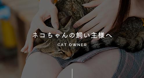 ネコちゃんの飼い主様へ